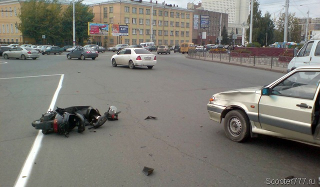 Авария на скутере
