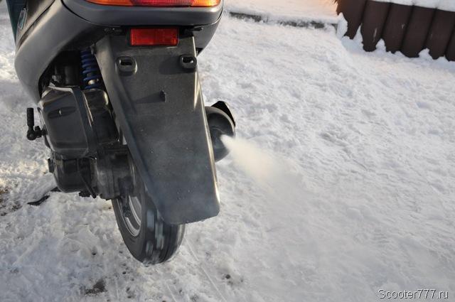 Скутер заводится в мороз