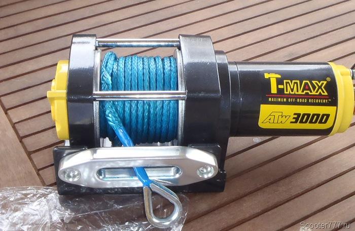 Синтетический трос на лебёдке T-max 3000