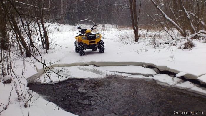 Ледовый провал на ручье