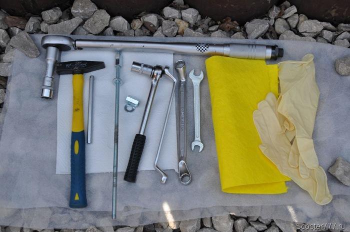 Инструмент для замены втулок на квадроцикле