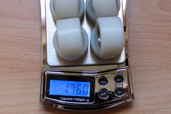 8 грузиков – 176 граммов