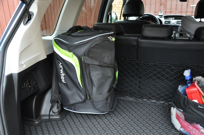 Airwheel E3 в багажнике
