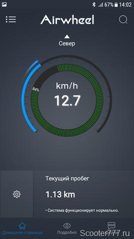 Скорость 12 км/ч