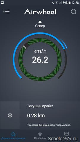 Скорость 26 км/ч