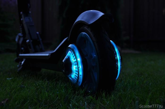 Подсветка заднего колеса