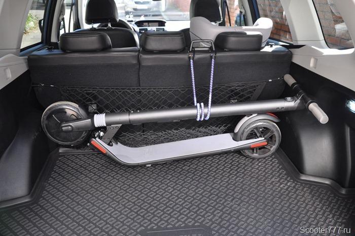 Ninebot KickScooter в багажнике