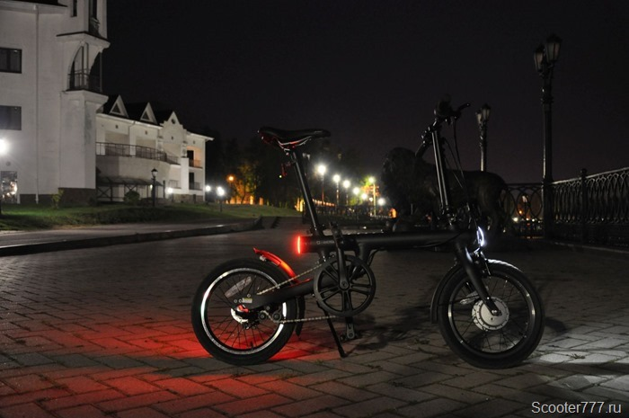 Велосипед в темноте