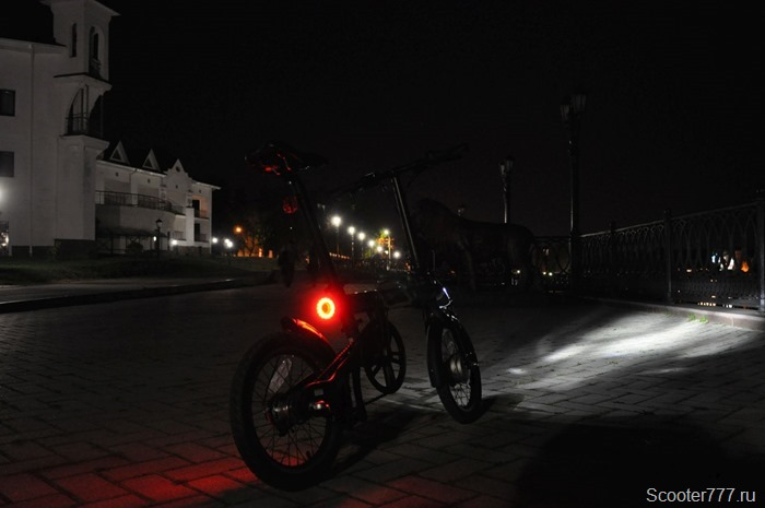 Xiaomi QiCYCLE в темноте