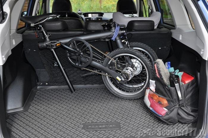 QiCYCLE в багажнике
