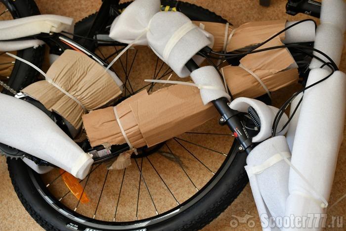 Велосипед хорошо упакован