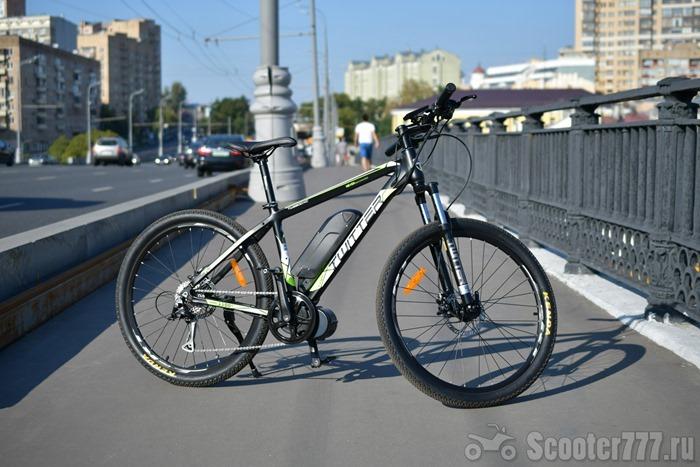 Велосипед Twitter VS7.0-EM на мосту